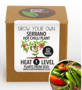 Serrano chili készlet
