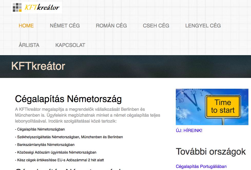 cégalapítás németországban